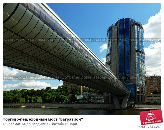 """Торгово-пешеходный мост """"Багратион"""", фото № 314260, снято 7 июня 2008 г. (c) Саломатников Владимир / Фотобанк Лори"""