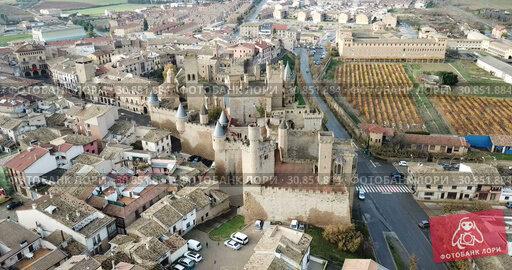Купить «Towers of castle Palacio Real de Olite. Spain», видеоролик № 30851884, снято 20 декабря 2018 г. (c) Яков Филимонов / Фотобанк Лори