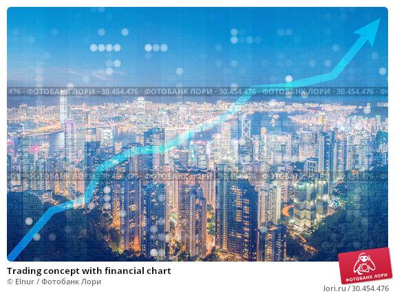 Trading concept with financial chart. Стоковое фото, фотограф Elnur / Фотобанк Лори