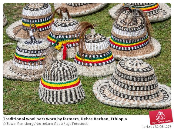 Traditional wool hats worn by farmers, Debre Berhan, Ethiopia. Стоковое фото, фотограф Edwin Remsberg / age Fotostock / Фотобанк Лори