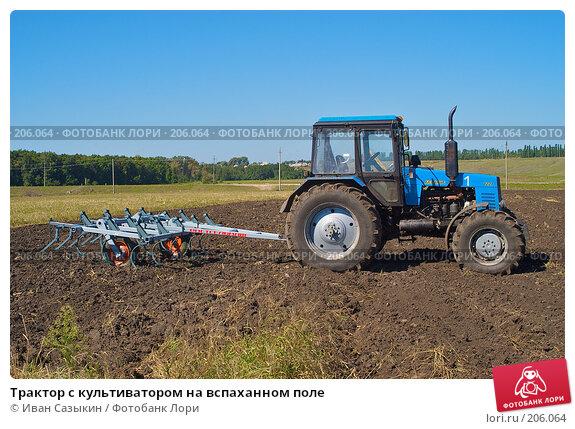 Трактор с культиватором на вспаханном поле, фото № 206064, снято 7 сентября 2004 г. (c) Иван Сазыкин / Фотобанк Лори