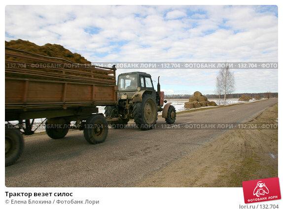 Трактор везет силос, фото № 132704, снято 16 марта 2007 г. (c) Елена Блохина / Фотобанк Лори