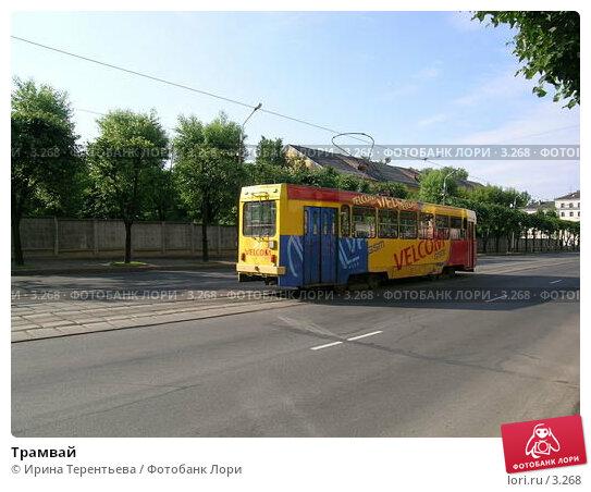 Трамвай, эксклюзивное фото № 3268, снято 4 июля 2004 г. (c) Ирина Терентьева / Фотобанк Лори