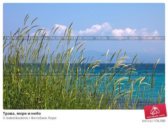 Трава, море и небо, фото № 176580, снято 8 мая 2006 г. (c) Бабенко Денис Юрьевич / Фотобанк Лори