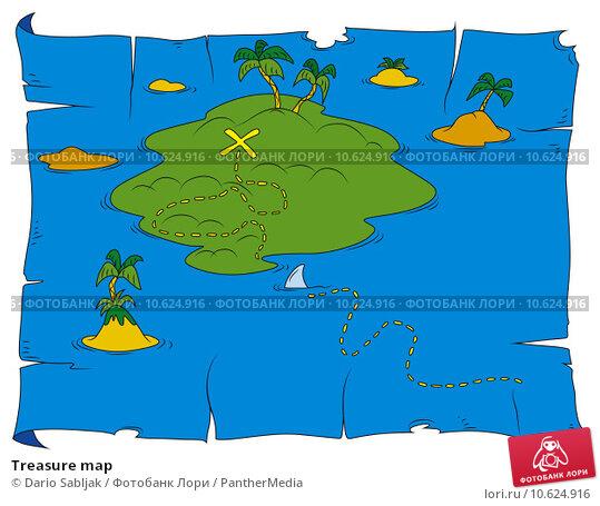 Treasure map. Стоковая иллюстрация, иллюстратор Dario Sabljak / PantherMedia / Фотобанк Лори
