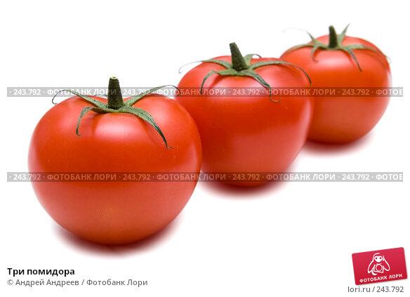 Три помидора, фото № 243792, снято 27 октября 2007 г. (c) Андрей Андреев / Фотобанк Лори