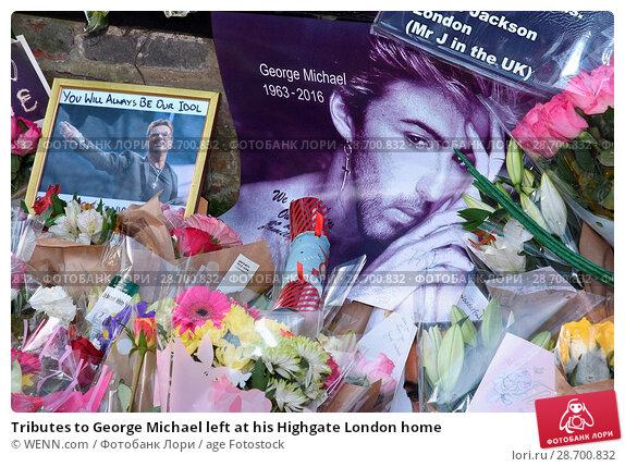Купить «Tributes to George Michael left at his Highgate London home Featuring: Atmosphere, George Michael Where: London, United Kingdom When: 27 Dec 2016 Credit: WENN.com», фото № 28700832, снято 27 декабря 2016 г. (c) age Fotostock / Фотобанк Лори