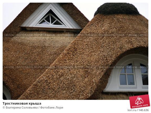 Тростниковая крыша, фото № 140636, снято 5 декабря 2007 г. (c) Екатерина Соловьева / Фотобанк Лори