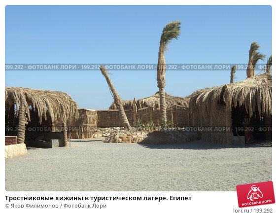 Тростниковые хижины в туристическом лагере. Египет, фото № 199292, снято 13 января 2008 г. (c) Яков Филимонов / Фотобанк Лори
