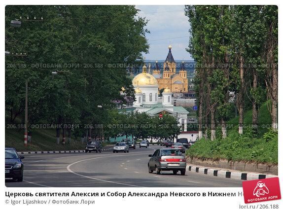 Церковь святителя Алексия и Собор Александра Невского в Нижнем Новгороде, фото № 206188, снято 17 июля 2007 г. (c) Igor Lijashkov / Фотобанк Лори