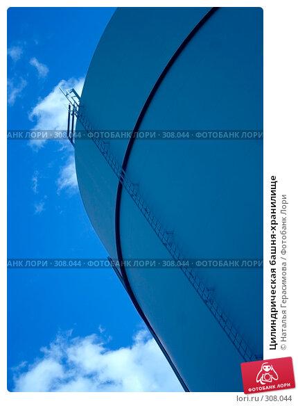Цилиндрическая башня-хранилище, фото № 308044, снято 2 июня 2008 г. (c) Наталья Герасимова / Фотобанк Лори