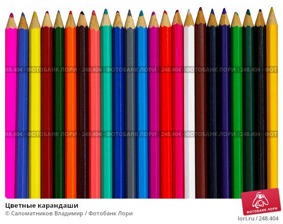 Цветные карандаши, фото № 248404, снято 11 апреля 2008 г. (c) Саломатников Владимир / Фотобанк Лори