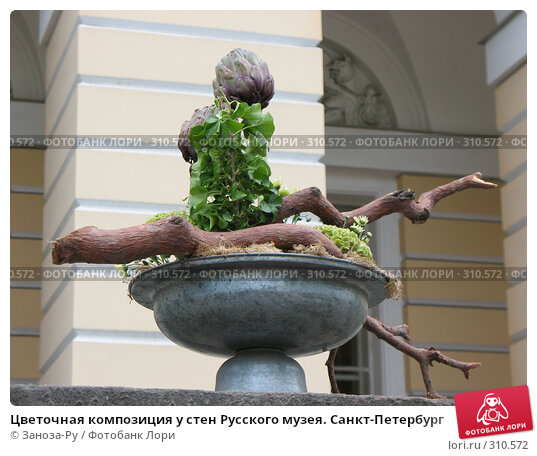Купить «Цветочная композиция у стен Русского музея. Санкт-Петербург», фото № 310572, снято 1 июня 2008 г. (c) Заноза-Ру / Фотобанк Лори