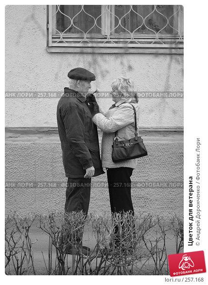 Купить «Цветок для ветерана», фото № 257168, снято 21 апреля 2018 г. (c) Андрей Доронченко / Фотобанк Лори