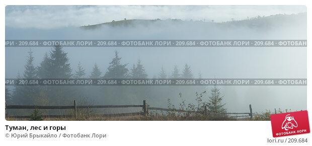 Туман, лес и горы, фото № 209684, снято 26 февраля 2017 г. (c) Юрий Брыкайло / Фотобанк Лори