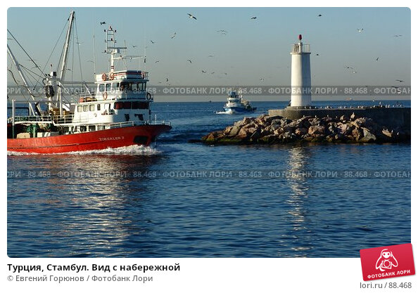 Турция, Стамбул. Вид с набережной, фото № 88468, снято 7 сентября 2006 г. (c) Евгений Горюнов / Фотобанк Лори