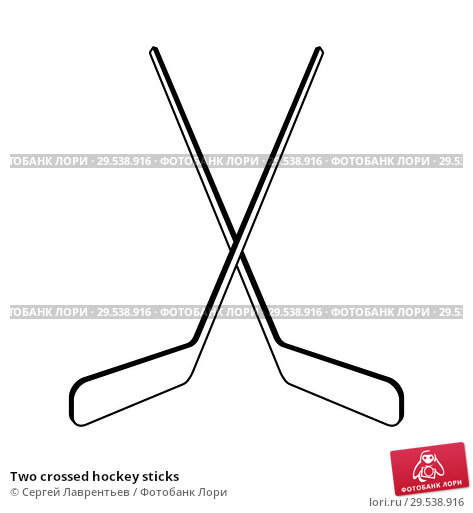 Купить «Two crossed hockey sticks», иллюстрация № 29538916 (c) Сергей Лаврентьев / Фотобанк Лори
