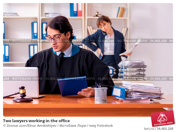 Two lawyers working in the office. Стоковое фото, фотограф Zoonar.com/Elnur Amikishiyev / easy Fotostock / Фотобанк Лори