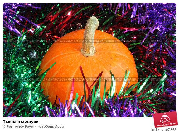 Тыква в мишуре, фото № 107868, снято 27 октября 2007 г. (c) Parmenov Pavel / Фотобанк Лори
