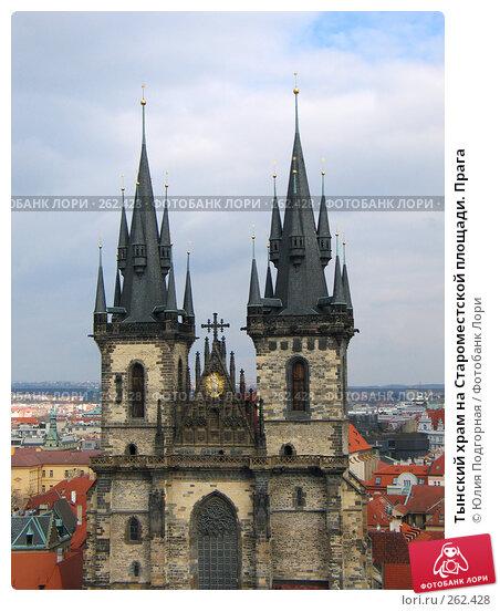 Тынский храм на Староместской площади. Прага, фото № 262428, снято 17 марта 2008 г. (c) Юлия Селезнева / Фотобанк Лори