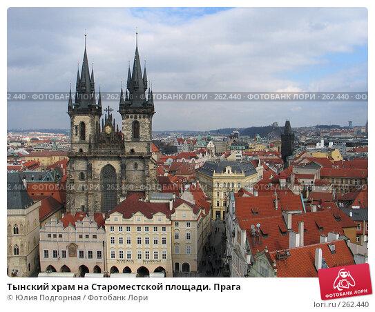 Тынский храм на Староместской площади. Прага, фото № 262440, снято 17 марта 2008 г. (c) Юлия Селезнева / Фотобанк Лори