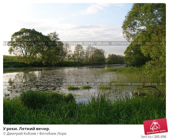 Купить «У реки. Летний вечер.», фото № 285696, снято 11 июня 2006 г. (c) Дмитрий Кобзев / Фотобанк Лори
