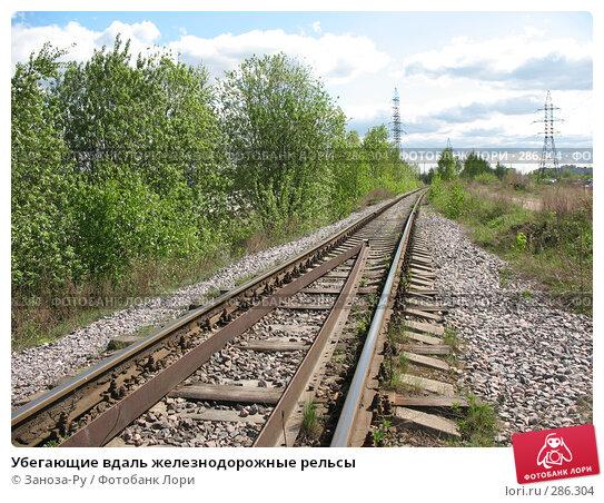 Убегающие вдаль железнодорожные рельсы, фото № 286304, снято 13 мая 2008 г. (c) Заноза-Ру / Фотобанк Лори