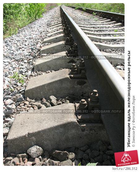 Убегающие вдаль железнодорожные рельсы, фото № 286312, снято 13 мая 2008 г. (c) Заноза-Ру / Фотобанк Лори