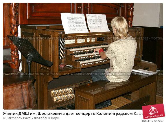 Ученик ДМШ им. Шостаковича дает концерт в Калининградском Кафедральном соборе, на синтезаторе Viscount Prestige 100, фото № 83532, снято 3 сентября 2007 г. (c) Parmenov Pavel / Фотобанк Лори
