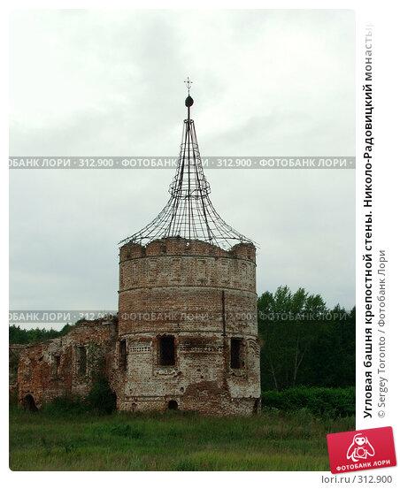 Угловая башня крепостной стены. Николо-Радовицкий монастырь, фото № 312900, снято 1 января 2004 г. (c) Sergey Toronto / Фотобанк Лори