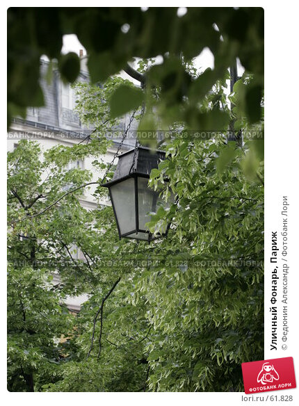 Уличный Фонарь, Париж, фото № 61828, снято 5 мая 2007 г. (c) Федюнин Александр / Фотобанк Лори