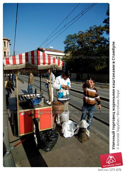 Уличный торговец жареными каштанами в Стамбуле, фото № 271676, снято 4 ноября 2007 г. (c) Алексей Зарубин / Фотобанк Лори