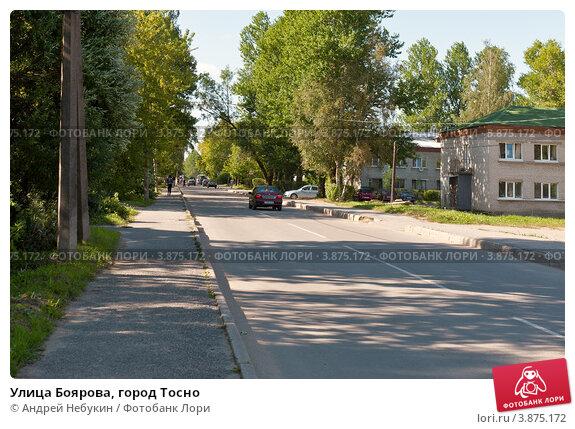 Купить «Улица Боярова, город Тосно», фото № 3875172, снято 14 августа 2012 г. (c) Андрей Небукин / Фотобанк Лори
