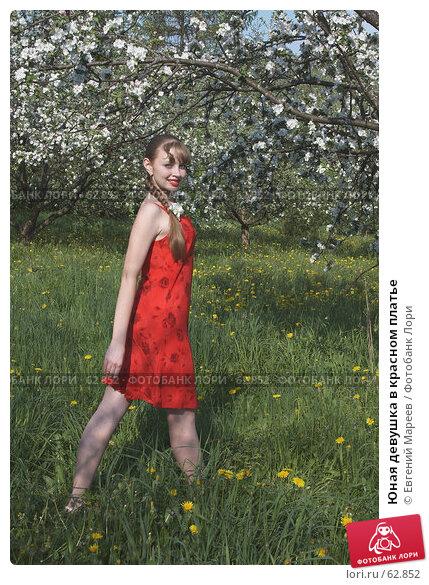 Юная девушка в красном платье, фото № 62852, снято 22 мая 2007 г. (c) Евгений Мареев / Фотобанк Лори