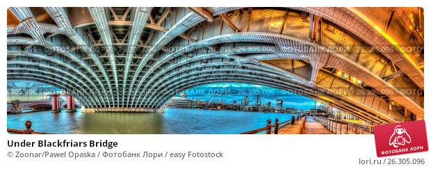Купить «Under Blackfriars Bridge», фото № 26305096, снято 4 декабря 2018 г. (c) easy Fotostock / Фотобанк Лори