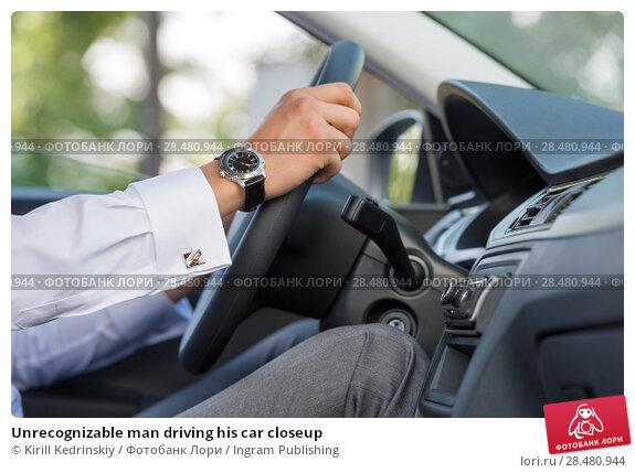 Купить «Unrecognizable man driving his car closeup», фото № 28480944, снято 20 июля 2014 г. (c) Ingram Publishing / Фотобанк Лори