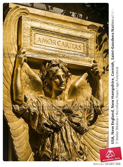 Купить «USA, New England, New Hampshire, Cornish, Saint-Gaudens National Historic Site, former home of 19th century sculptor, Augustus Saint-Gaudens, New Gallery and Atrium, sculpture of Amor Caritas.», фото № 29087588, снято 2 октября 2017 г. (c) age Fotostock / Фотобанк Лори