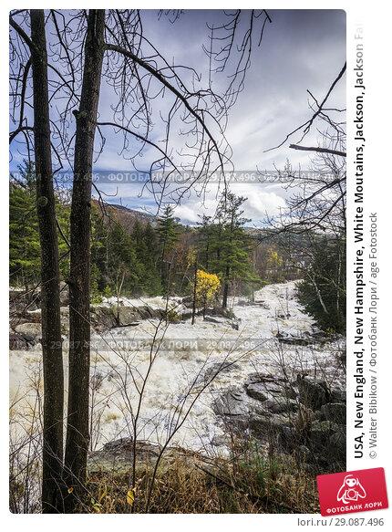 Купить «USA, New England, New Hampshire, White Moutains, Jackson, Jackson Falls on the Ellis River, autumn.», фото № 29087496, снято 30 октября 2017 г. (c) age Fotostock / Фотобанк Лори