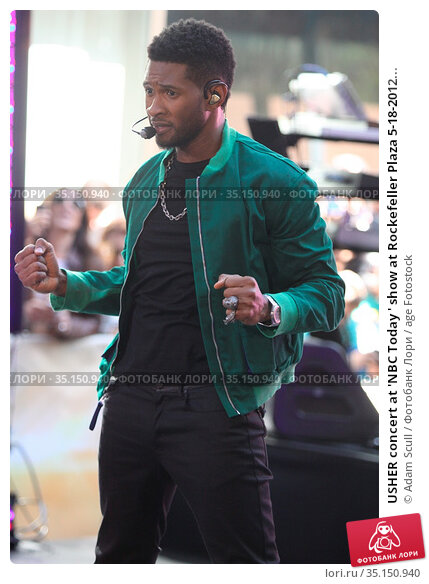 USHER concert at 'NBC Today ' show at Rockefeller Plaza 5-18-2012... Редакционное фото, фотограф Adam Scull / age Fotostock / Фотобанк Лори