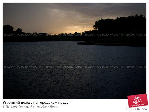 Купить «Утренний дождь на городском пруду», фото № 169904, снято 1 июня 2007 г. (c) Петухов Геннадий / Фотобанк Лори