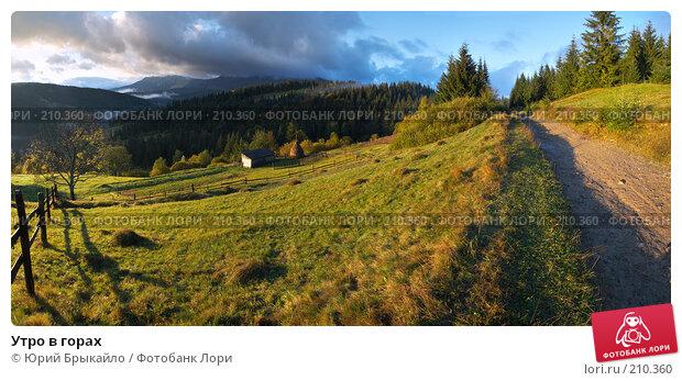 Утро в горах, фото № 210360, снято 28 октября 2016 г. (c) Юрий Брыкайло / Фотобанк Лори