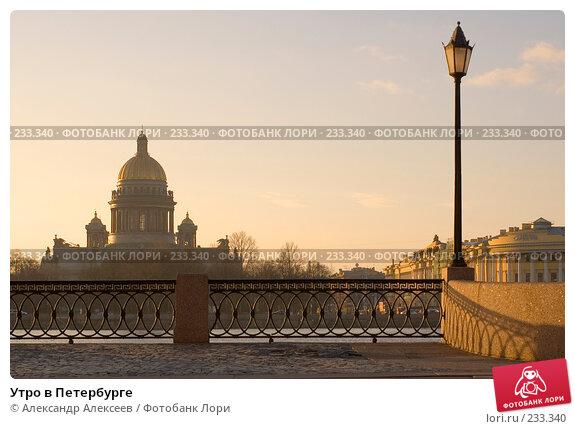 Утро в Петербурге, эксклюзивное фото № 233340, снято 20 марта 2007 г. (c) Александр Алексеев / Фотобанк Лори