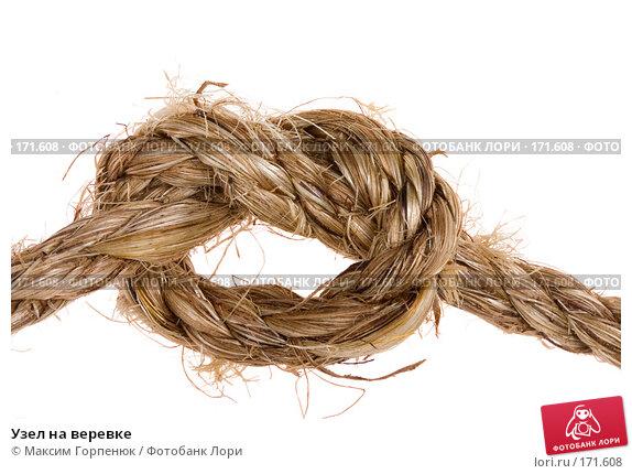 Купить «Узел на веревке», фото № 171608, снято 9 сентября 2007 г. (c) Максим Горпенюк / Фотобанк Лори
