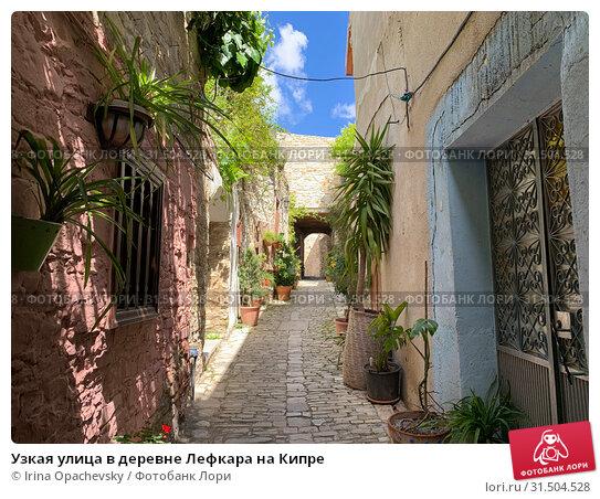 Купить «Узкая улица в деревне Лефкара на Кипре», фото № 31504528, снято 10 мая 2019 г. (c) Irina Opachevsky / Фотобанк Лори
