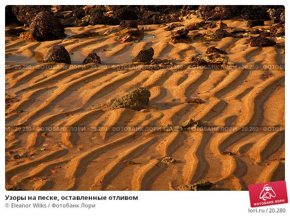 Узоры на песке, оставленные отливом, фото № 20280, снято 11 марта 2007 г. (c) Eleanor Wilks / Фотобанк Лори