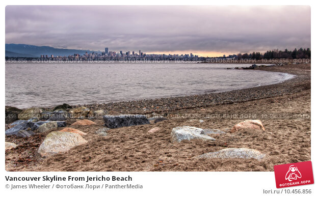 Vancouver Skyline From Jericho Beach. Стоковое фото, фотограф James Wheeler / PantherMedia / Фотобанк Лори