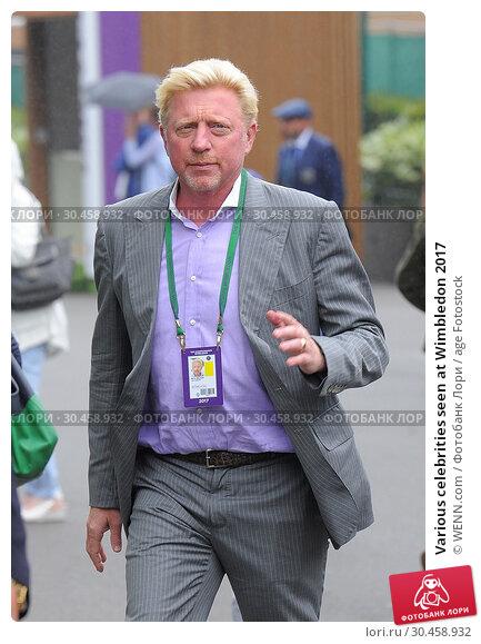 Various celebrities seen at Wimbledon 2017. Редакционное фото, фотограф WENN.com / age Fotostock / Фотобанк Лори