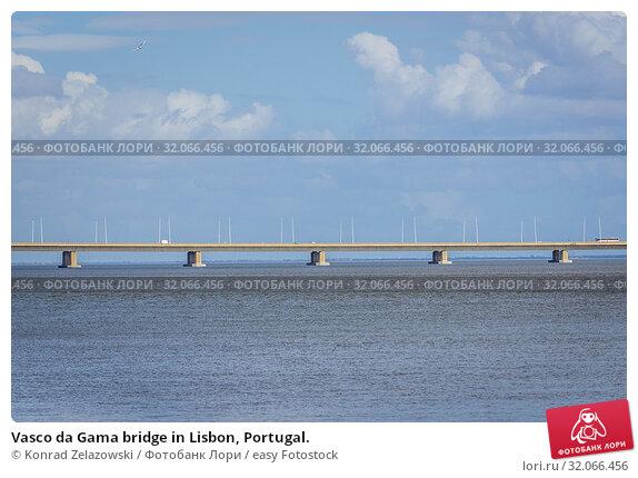 Vasco da Gama bridge in Lisbon, Portugal. Стоковое фото, фотограф Konrad Zelazowski / easy Fotostock / Фотобанк Лори