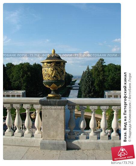 Купить «Ваза. Вид на Петергофский канал», фото № 73712, снято 3 августа 2007 г. (c) Надежда Климовских / Фотобанк Лори