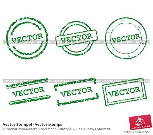 Vector Stempel - Vector stamps. Стоковое фото, фотограф Zoonar.com/Robert Biedermann / easy Fotostock / Фотобанк Лори